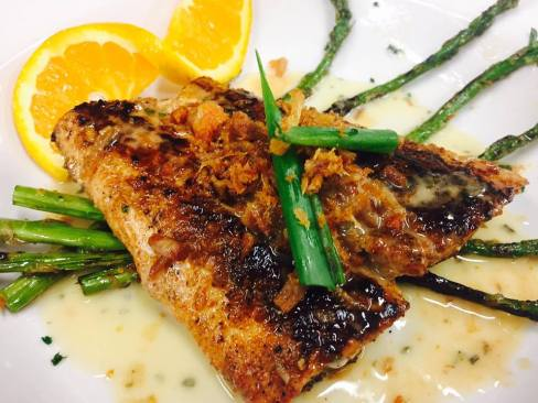grilled lemonfish
